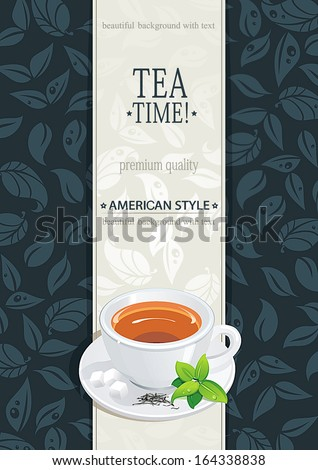 Tea design template - stock vector