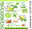 Tea elements for your design - stock vector