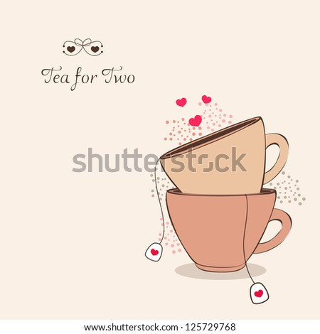 tea for two - stock vector