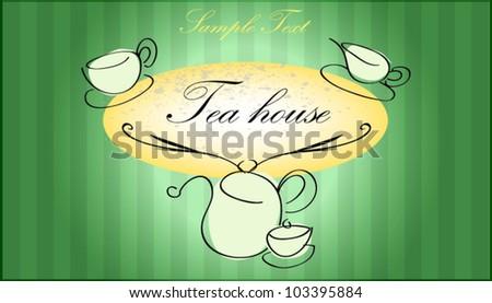 tea house - stock vector