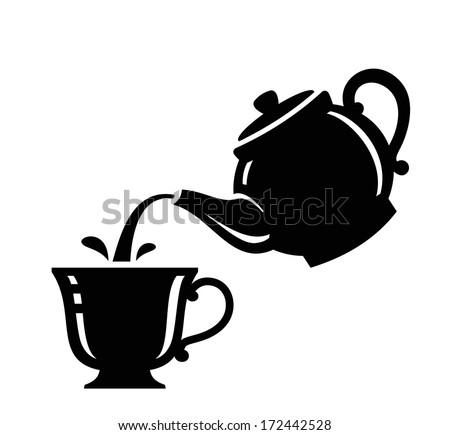 tea icon - stock vector
