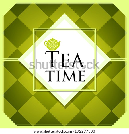 tea party card design. vector illustration