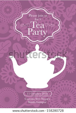 Afternoon tea stock images royalty free images vectors for Morning tea invitation template free