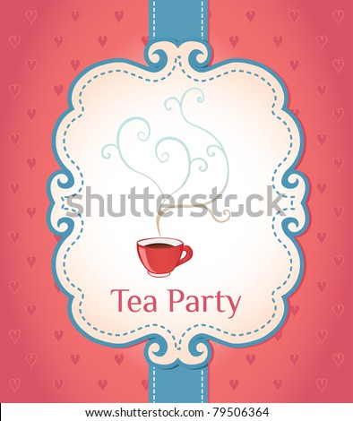 tea party invitation stock images, royaltyfree images  vectors, Party invitations
