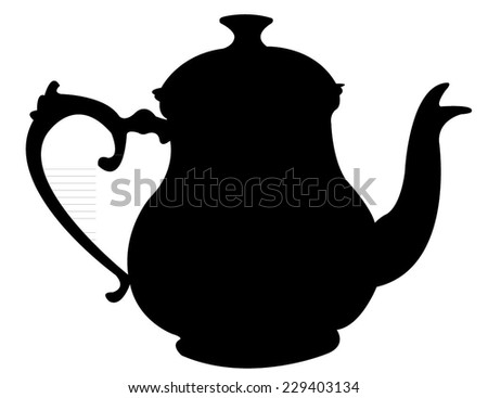 Image Gallery teapot silhouettes