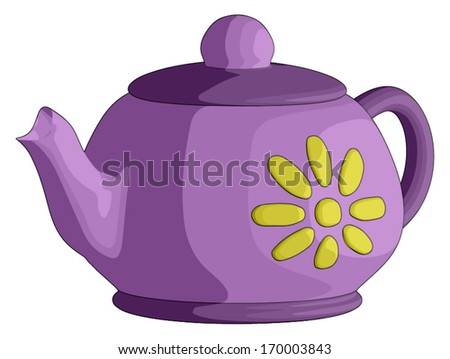 Tea Pot -  Vector Artwork (isolated on white background).