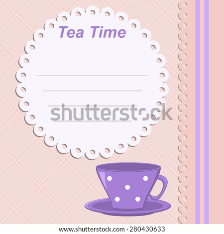 Tea time template invitation gala dinner stock vector 280430633 template invitation to a gala dinner birthday party childrens party stopboris Image collections