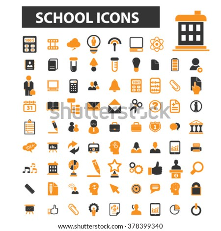 teach icons - stock vector