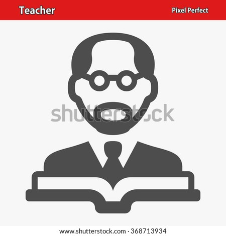 Teacher Icon. Professional, pixel perfect icons optimized for both large and small resolutions. EPS 8 format. - stock vector