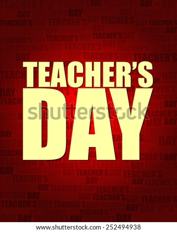 Teacher's Day with same text on red gradient background.