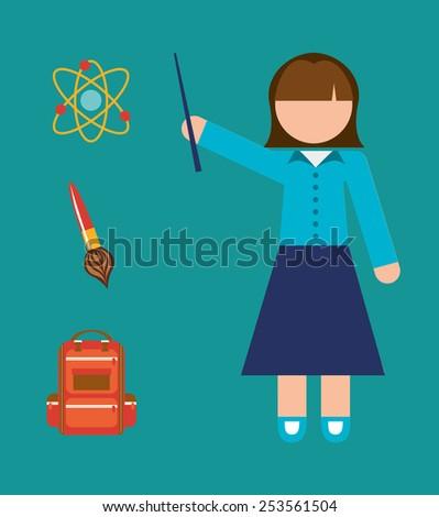 teacher school design, vector illustration eps10 graphic  - stock vector