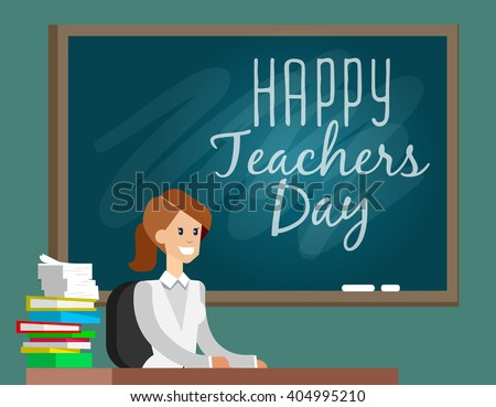 Teachers day. Composition for Teachers day. Vector Illustration for Teachers day. School Design Elements Teachers day. Composition for Teachers day. Vector Illustration for Teachers day. School - stock vector