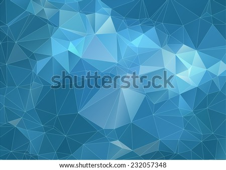 Teal marine triangle Background - stock vector