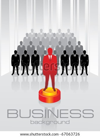 Team business concept. Leadership. - stock vector