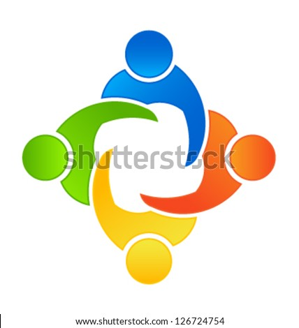 Team Business Meeting 4 - stock vector