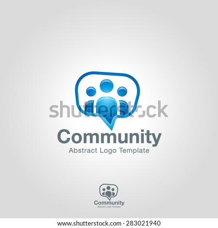 Team Community Partners logo template. Social Network Corporate branding identity - stock vector