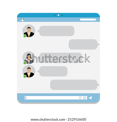 Team Conversations  - a group of people communicating to solve a problem. - stock vector