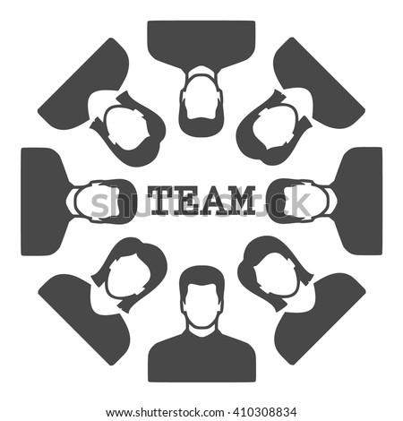team Icon Vector.  - stock vector
