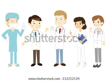 Team medical care - stock vector