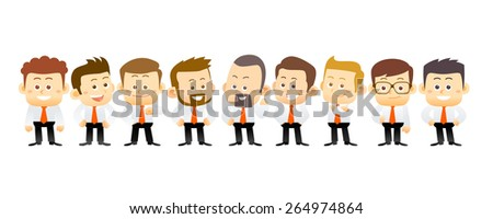 Team of businessman. conceptual illustration - stock vector