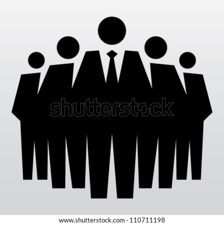 Team of professionals, leadership. Vector illustration concept - stock vector