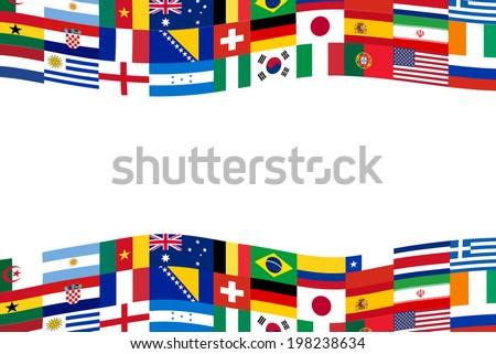 Team soccer flag banner - stock vector