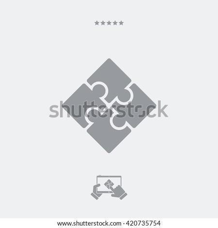 Team strategy concept icon - stock vector