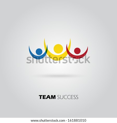 Team success icon, vector design - stock vector