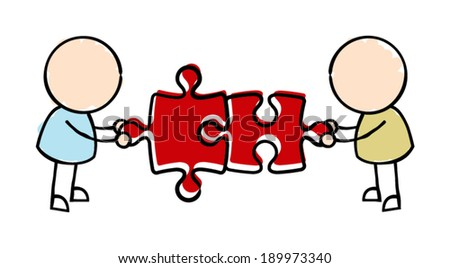 Team Work  - stock vector