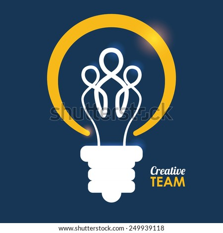 team work design, vector illustration eps10 graphic  - stock vector