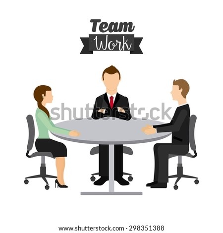 team work design, vector illustration eps10 graphic