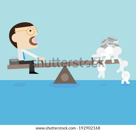 team work will make you become stronger and powerful. - stock vector