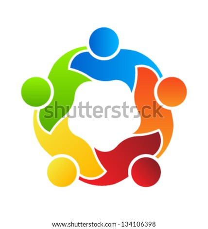 Teaming 5 - stock vector