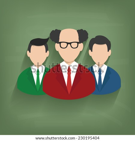 Teamwork,Businessman on blackboard background,vector - stock vector