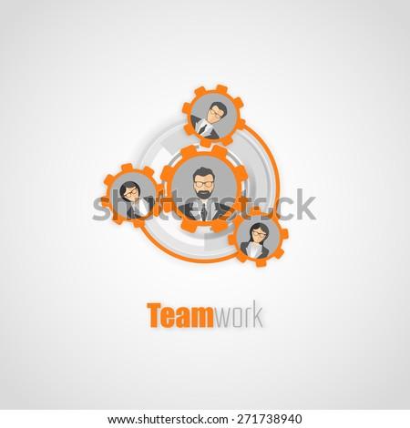 Teamwork concept Vector Design - stock vector