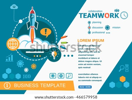 Teamwork design concepts of words learning and training. Teamwork flat design banners for website and mobile website, easy to use and highly customizable.