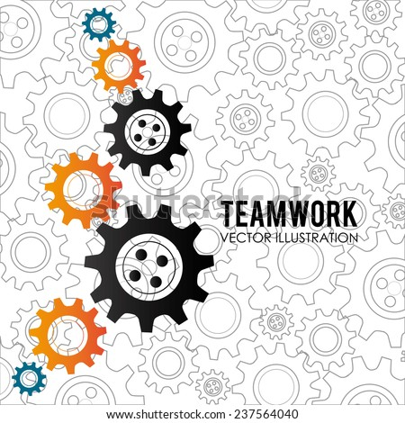 Teamwork design over white background,vector illustration