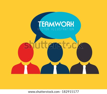 Teamwork design over yellow background, vector illustration