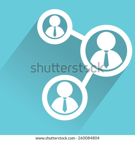 teamwork design with long shadow. - stock vector