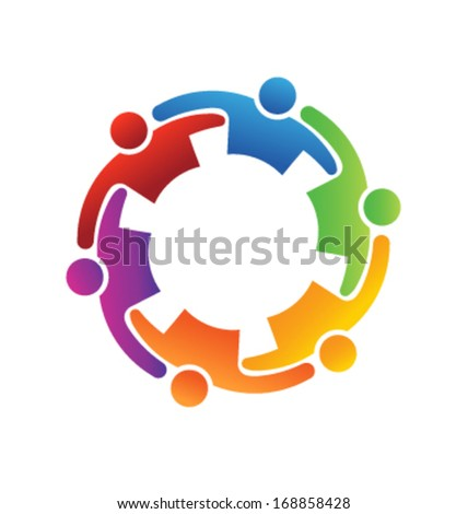 Teamwork Embrace 6 - stock vector