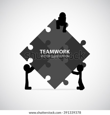 Teamwork Graphic Design - stock vector
