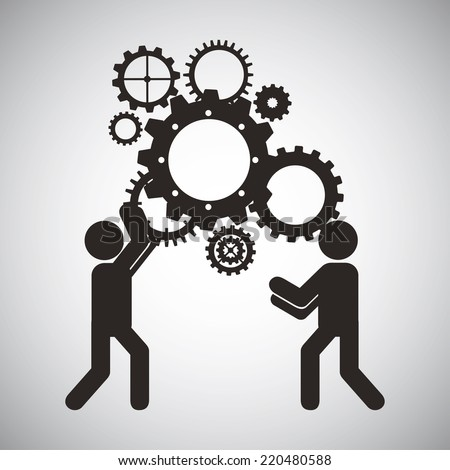 Teamwork Design Over White Background Vector Stock Vector ...