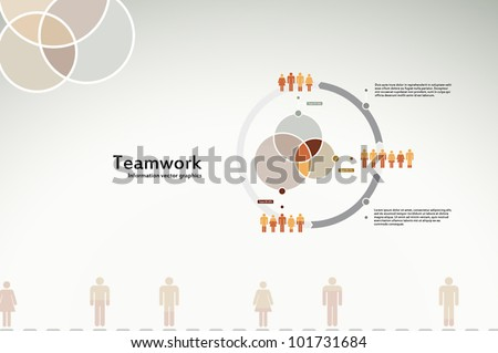 Teamwork infographics for business and corporate reports and presentations - stock vector