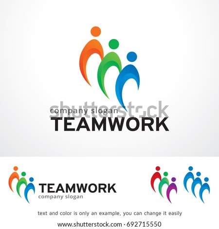 Teamwork Logo Template Design Vector Emblem Stock Vector HD (Royalty ...