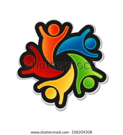 Teamwork Party - stock vector