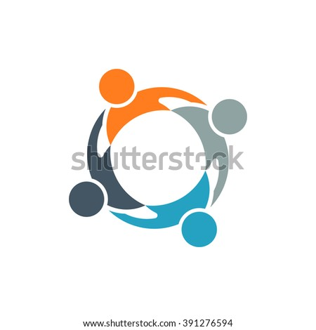 Teamwork People Group Logo. Vector graphic - stock vector