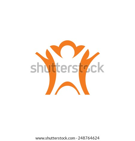 Teamwork sign Branding Identity Corporate logo design template Isolated on a white background - stock vector