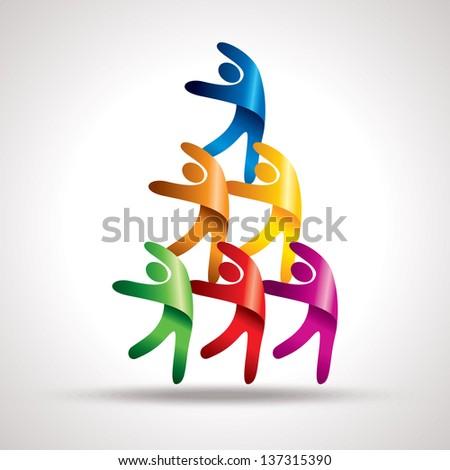 Teamwork vector - stock vector