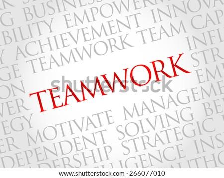 TEAMWORK word cloud, business concept - stock vector