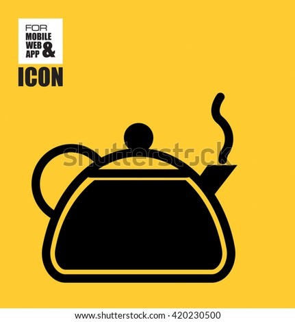 Teapot icon - stock vector